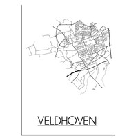 Veldhoven Plattegrond poster