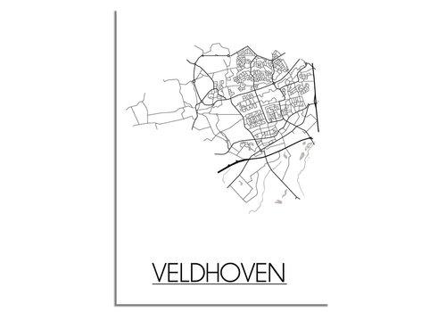DesignClaud Veldhoven Plattegrond poster