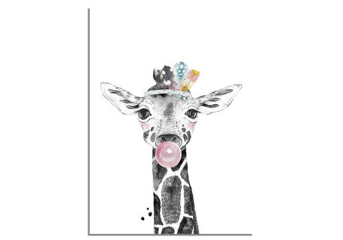 DesignClaud Giraffe Kinderkamerposter Kauwgom