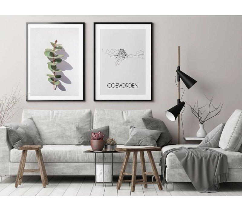 Coevorden Plattegrond poster