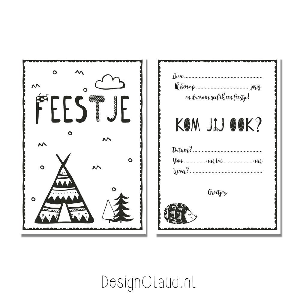 kinderfeestje-uitnodiging-zwart-wit