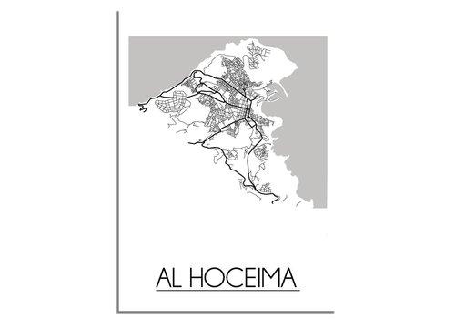 DesignClaud Al Hoceima Stadtplan-poster