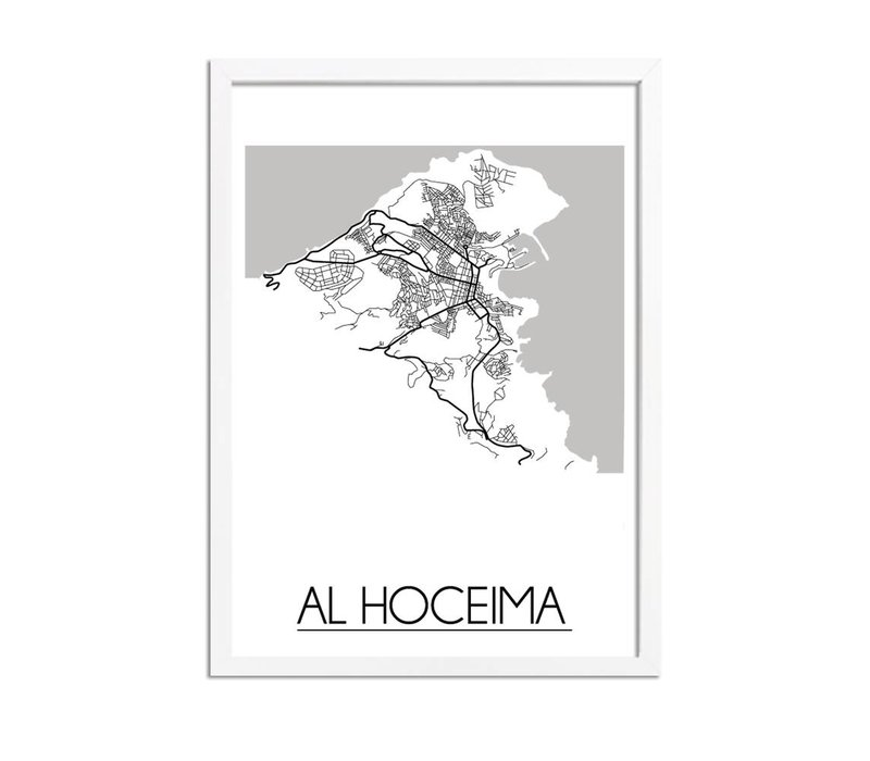 Al Hoceima Plattegrond poster