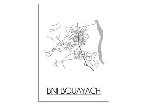DesignClaud Bni Bouayach Stadtplan-poster
