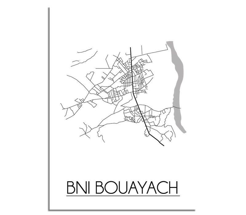 Bni Bouayach Plattegrond poster