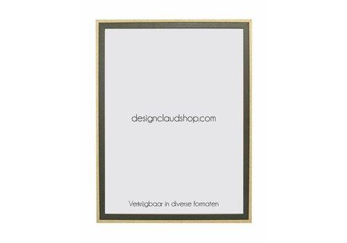 DesignClaud Houten wissellijst Groen/Blank kunststof venster - Div. formaten