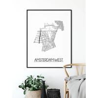 Amsterdam-West Plattegrond poster