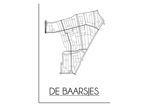 DesignClaud De Baarsjes Amsterdam Plattegrond poster