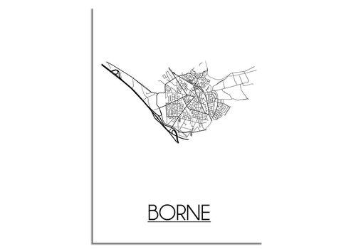 DesignClaud Borne Stadtplan-poster