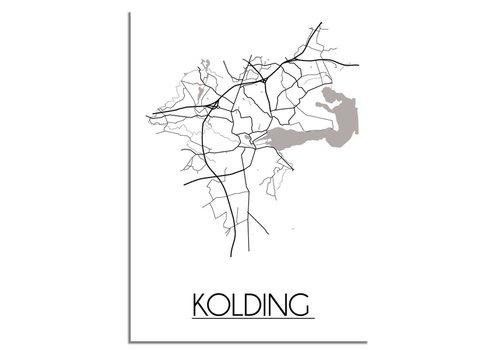 DesignClaud Kolding Denemarken Plattegrond poster