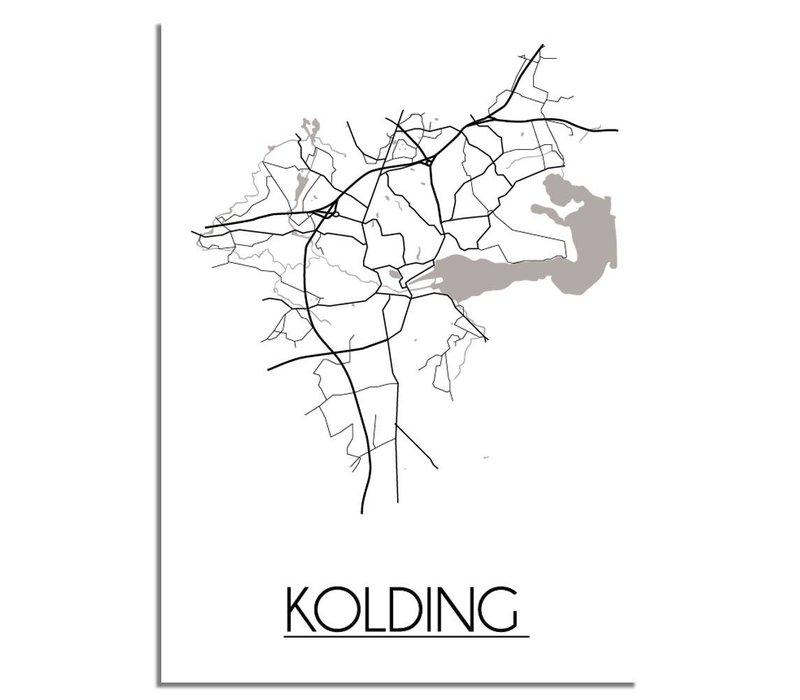 Kolding Denemarken Plattegrond poster