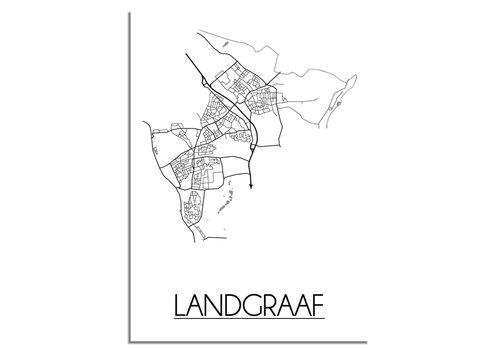 DesignClaud Landgraaf Stadtplan-poster