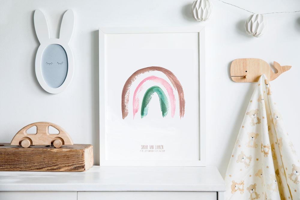 geboorteposter-regenboog