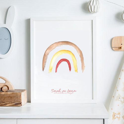 Regenboog geboorteposter: een uniek kraamcadeau voor jezelf of iemand anders!