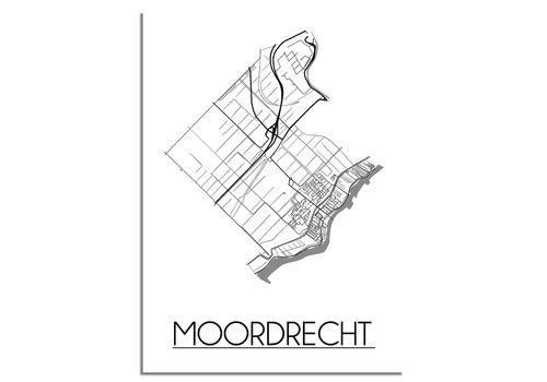 DesignClaud Moordrecht Stadtplan-poster