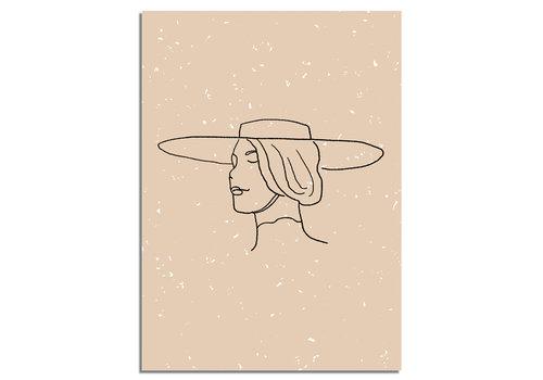DesignClaud Vrouw met hoed Poster