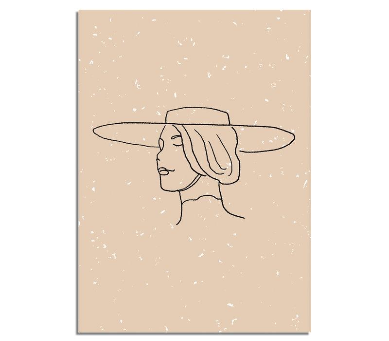 Vrouw met hoed Poster