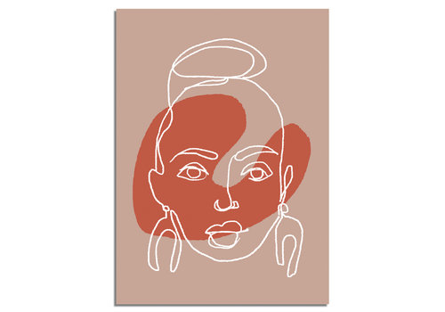 DesignClaud Portret vrouw poster