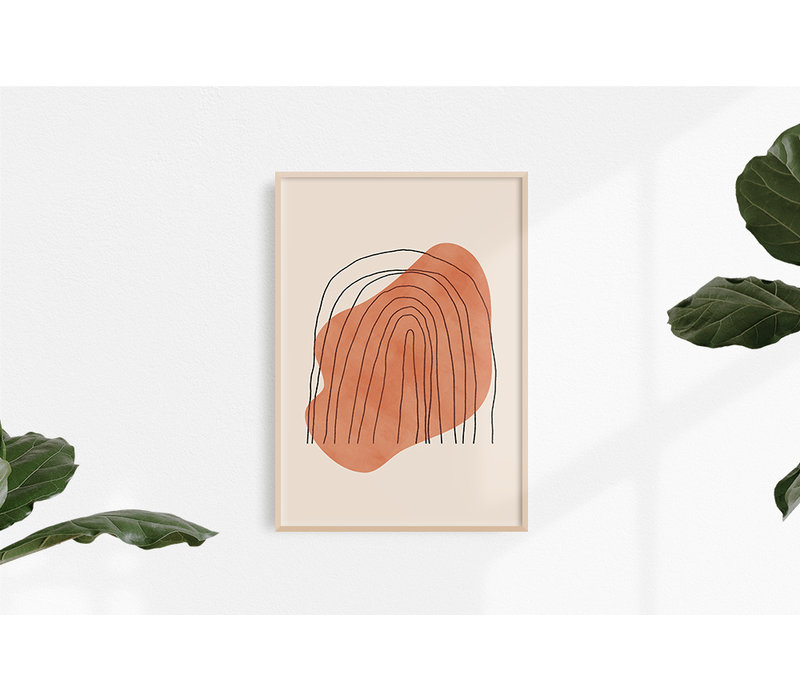 Regenboog Lijnen Poster