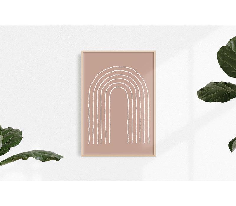 Regenboog Lijnen - Grafische poster