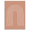 DesignClaud Lijnen Regenboog - Grafische poster