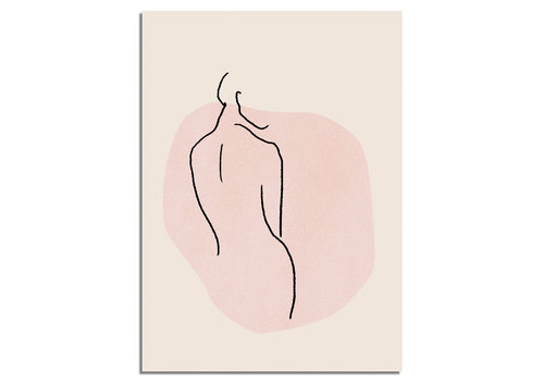 DesignClaud Vrouw lichaam - Grafische poster