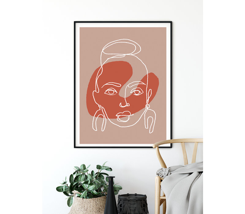 Portret vrouw poster