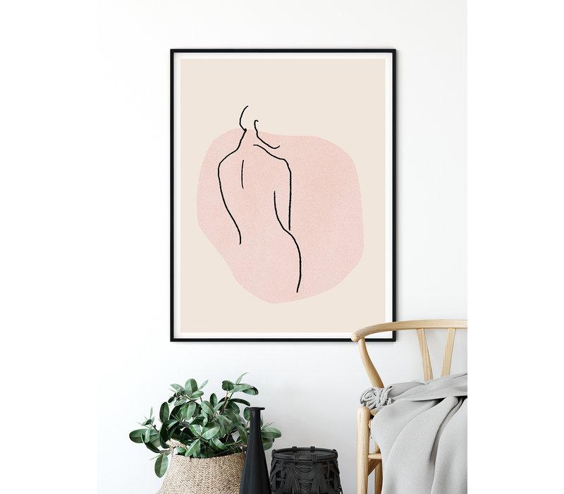 Vrouw lichaam - Grafische poster
