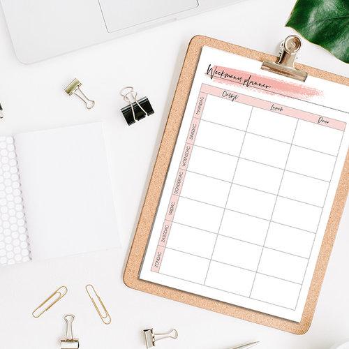 Gratis Printable weekmenu mealplanner!