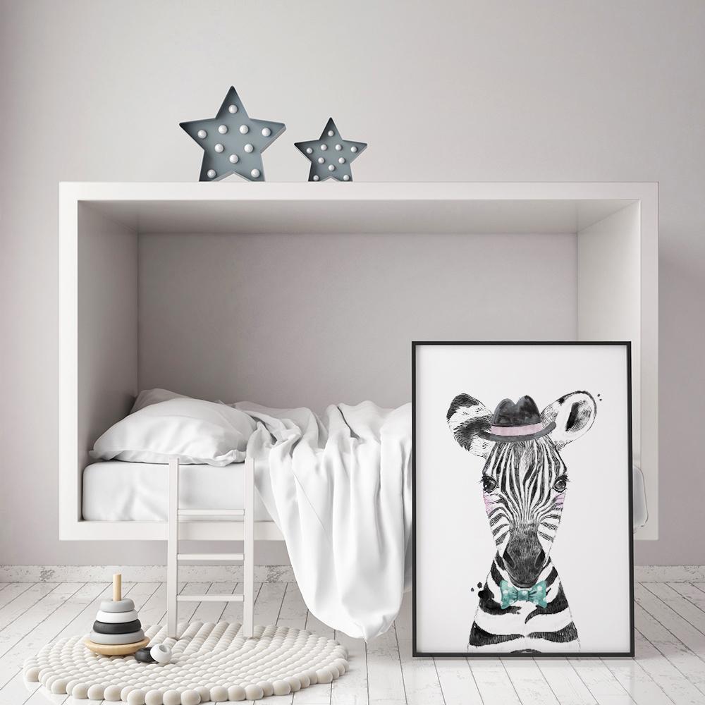 kinderkamer-poster-zebra
