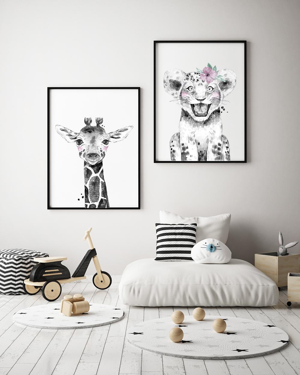 kinderkamer-poster-leeuw
