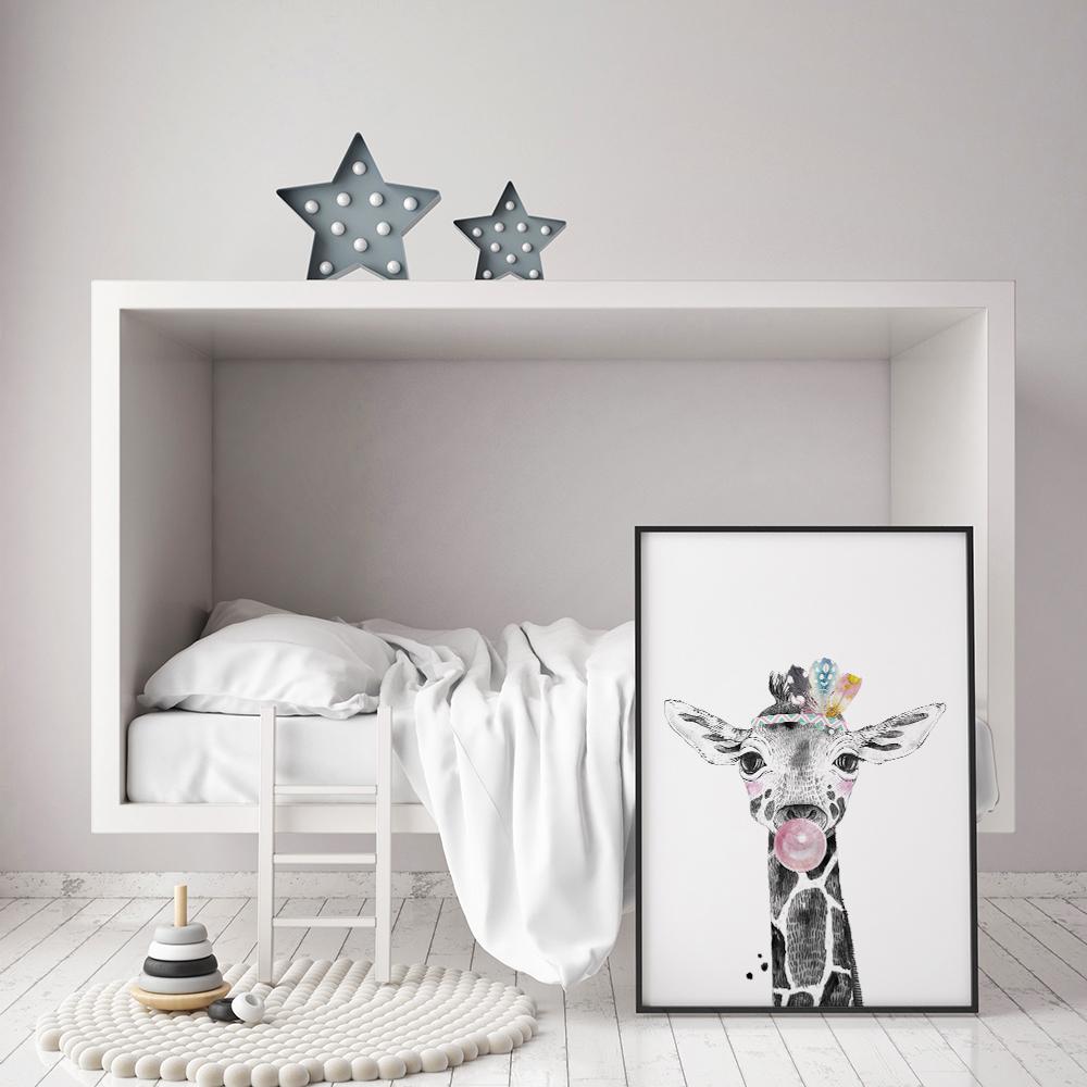 kinderkamer-poster-giraffe