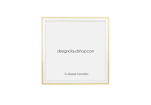 DesignClaud Houten wissellijst Wit + Blank - Fotolijst - Kunststof venster - Div. formaten