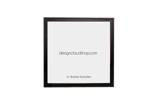 DesignClaud Houten wissellijst Zwart/Koloniaal kunststof venster - Div. formaten