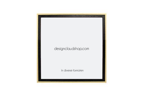 DesignClaud Houten wissellijst Zwart + Blank - Fotolijst - Kunststof venster - Div. Formaten