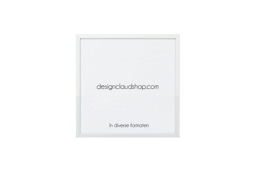 DesignClaud Aluminium wissellijst - Fotolijst met klein facetrandje - Mat zilver - Div. Formaten