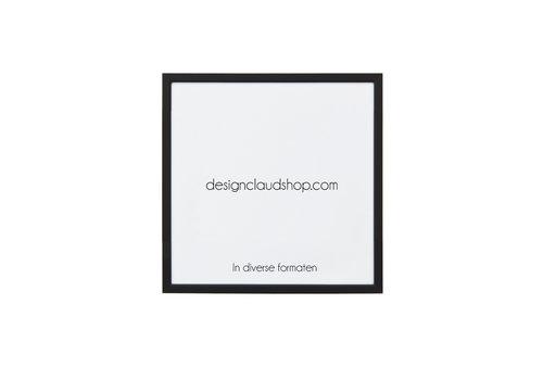 DesignClaud Wechselrahmen aus Aluminium - Fotorahmen mit kleiner Facette Mattschwarz - Verschiedene Formaten