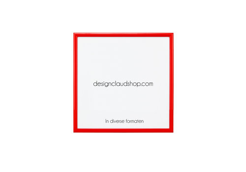 DesignClaud Wechselrahmen aus Aluminium - Fotorahmen - Rot - Verschiedene formaten