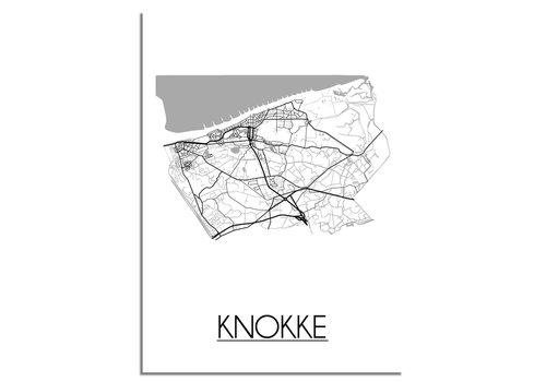 DesignClaud Knokke Stadtplan-poster