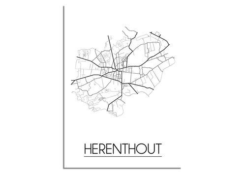 DesignClaud Herenthout Stadtplan-poster