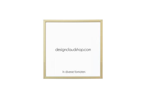 DesignClaud Aluminium wissellijst - Fotolijst Mat Brons licht  - Facetrandje - Div. formaten
