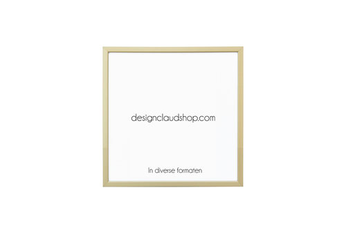 DesignClaud Wechselrahmen aus Aluminium - Fotorahmen Mattbronze hell - Facettierter Kante - Div. Formate