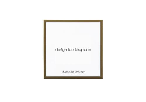 DesignClaud Wechselrahmen aus Aluminium - Fotorahmen Mattbronze dunkler - Facettierter Kante - Div. Formate
