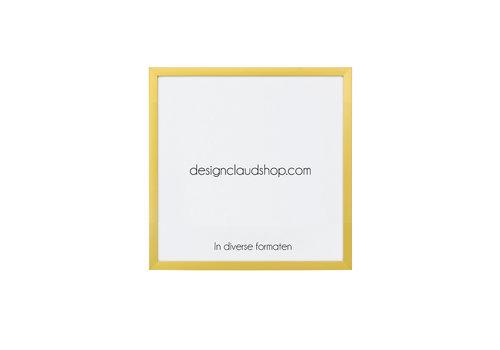 DesignClaud Wechselrahmen aus Aluminium - Fotorahmen - Mattgold - Verschiedene formaten