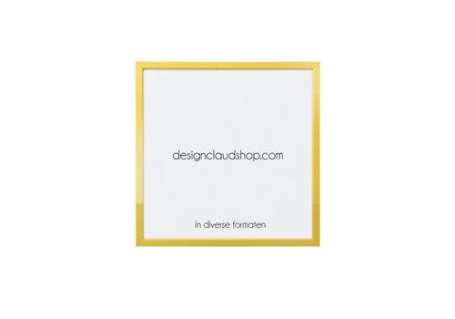 DesignClaud Wechselrahmen aus Aluminium - Fotorahmen Mattgold - Facettierter Kante - Div. Formate