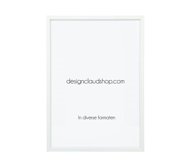 Aluminium wissellijst - Fotolijst - Facetrandje - Mat Wit