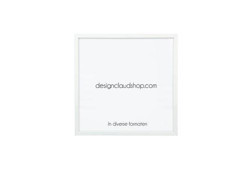 DesignClaud Wechselrahmen aus Aluminium - Fotorahmen Matt weiß - Facettierter Kante - Div. Formate