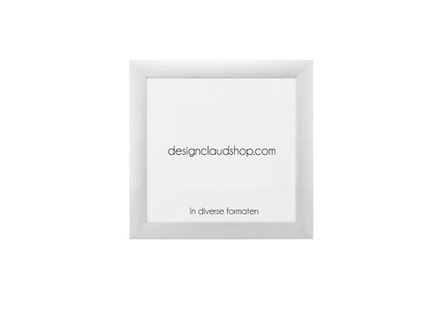 DesignClaud Wechselrahmen aus Aluminium - Fotorahmen Matt Silber - Div. Formate
