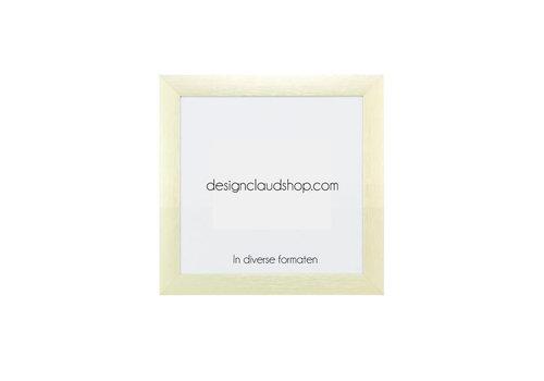 DesignClaud Wechselrahmen aus Aluminium - Fotorahmen Matt Champagner Farbe - Div. Formate
