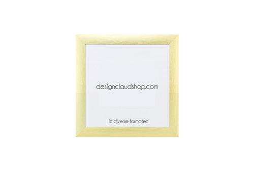 DesignClaud Wechselrahmen aus Aluminium - Fotorahmen Matt Gold - Div. Formate